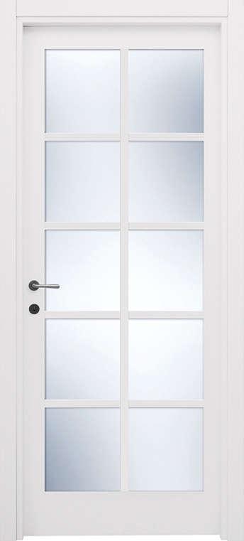 porta bianca a vetri