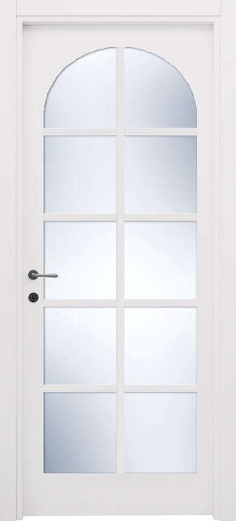 porta a vetri bianca